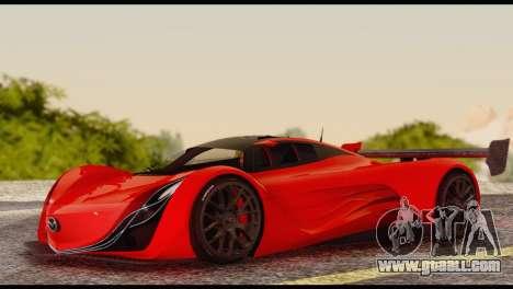 Mazda Furai 2008 for GTA San Andreas inner view