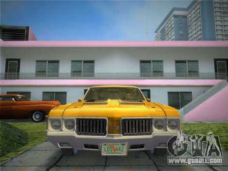 Oldsmobile 442 1970 for GTA Vice City back view