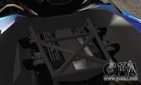 Lamborghini Reventon Black Heart Edition for GTA San Andreas bottom view