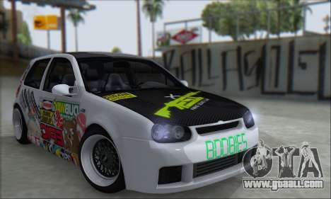 Volkswagen Golf MK4 R32 for GTA San Andreas inner view