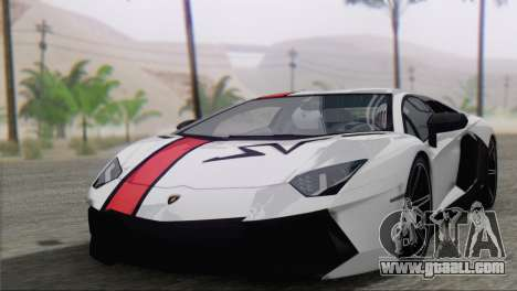 Lamborghini Aventador LP700-4 2012 for GTA San Andreas upper view