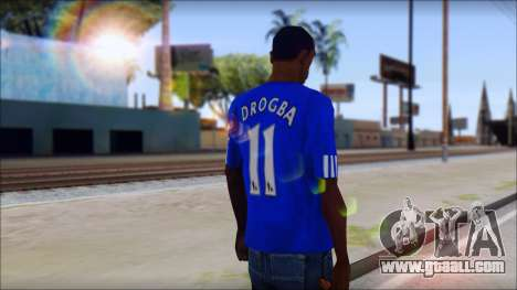 Chelsea F.C Drogba 11 T-Shirt for GTA San Andreas second screenshot