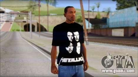 Metallica T-Shirt for GTA San Andreas