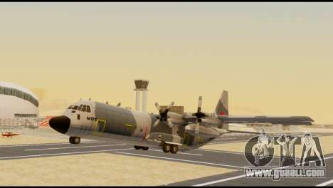 C-130 Hercules Indonesia Air Force for GTA San Andreas right view