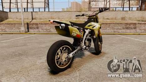 Yamaha YZF-450 v1.16 for GTA 4 back left view