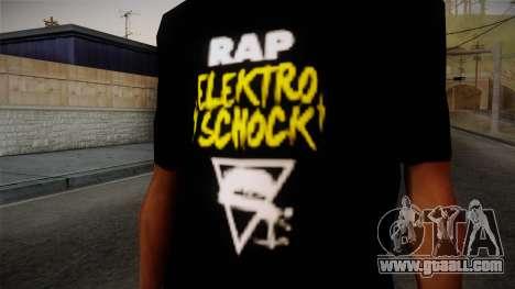 Silla Rap Elektro Schock Shirt for GTA San Andreas third screenshot