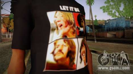 The Beatles Let It Be T-Shirt for GTA San Andreas third screenshot