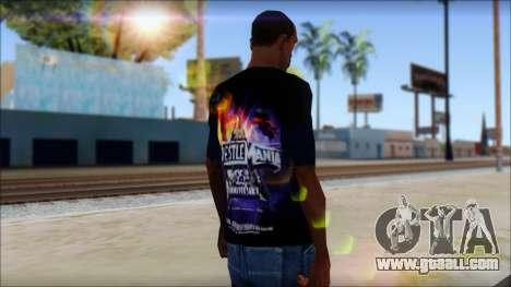Wrestle Mania T-Shirt v1 for GTA San Andreas second screenshot