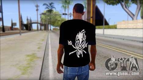 Metallica Logos T-Shirt for GTA San Andreas second screenshot