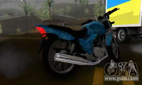 Yamaha YBR Blue Star for GTA San Andreas back view