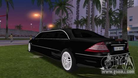 Mercede-Benz CL65 AMG Limousine for GTA Vice City left view