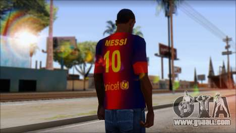 Barcelona Messi T-Shirt for GTA San Andreas second screenshot
