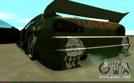 Paint work Pudge (Dota 2) for Elegy for GTA San Andreas right view