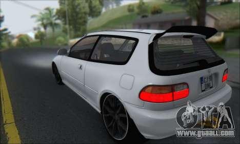 Honda Civic 1995 for GTA San Andreas left view