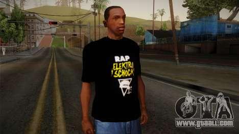 Silla Rap Elektro Schock Shirt for GTA San Andreas
