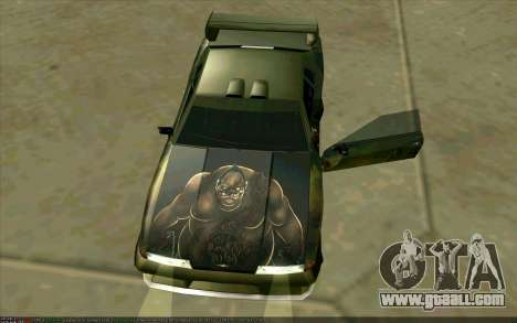 Paint work Pudge (Dota 2) for Elegy for GTA San Andreas back left view