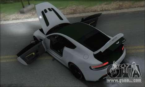 Aston Martin V12 Vantage S 2013 for GTA San Andreas wheels