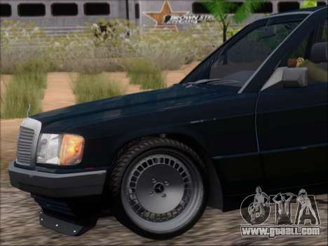 Mercedes Benz 190E Drift V8 for GTA San Andreas wheels