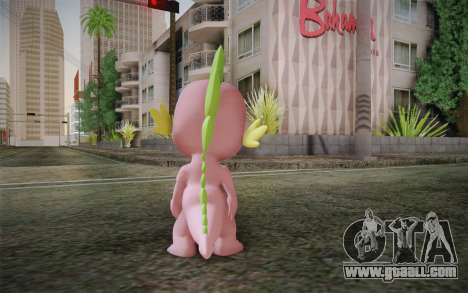 Spike from My Little Pony Friendship for GTA San Andreas second screenshot