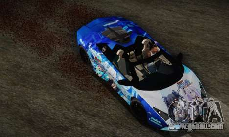 Lamborghini Reventon Black Heart Edition for GTA San Andreas back view