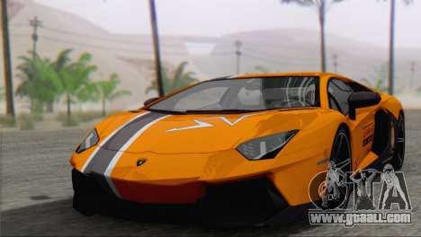 Lamborghini Aventador LP700-4 2012 for GTA San Andreas interior
