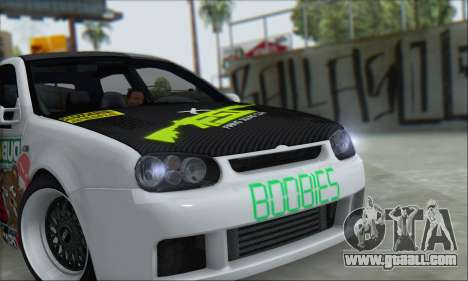Volkswagen Golf MK4 R32 for GTA San Andreas back left view