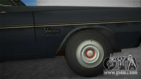 Plymouth Belvedere I Station Wagon 1965 for GTA Vice City right view