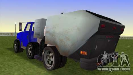 The new garbage truck Beta for GTA Vice City left view