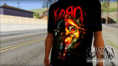 KoRn T-Shirt Mod for GTA San Andreas