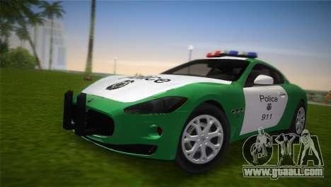 Maserati Granturismo Police for GTA Vice City