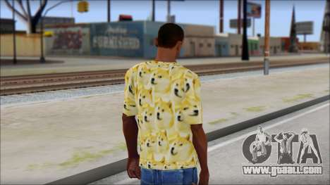 Doge T-Shirt for GTA San Andreas second screenshot
