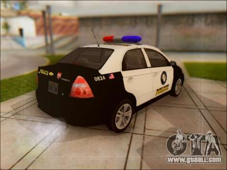 Chevrolet Aveo Police for GTA San Andreas back view