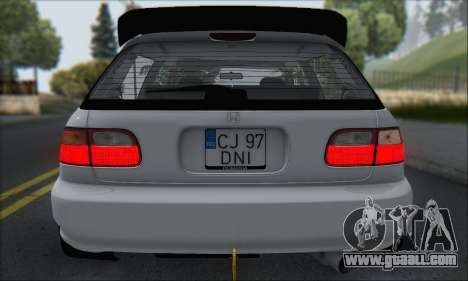 Honda Civic 1995 for GTA San Andreas engine