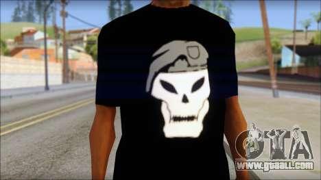 Black Ops T-Shirt for GTA San Andreas third screenshot