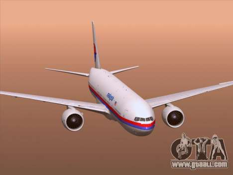 Boeing 777-2H6ER Malaysia Airlines for GTA San Andreas wheels