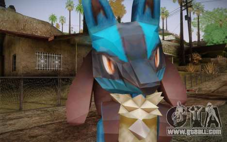 Lucario from Pokemon for GTA San Andreas third screenshot