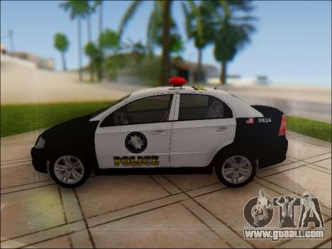 Chevrolet Aveo Police for GTA San Andreas left view