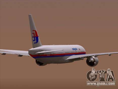 Boeing 777-2H6ER Malaysia Airlines for GTA San Andreas