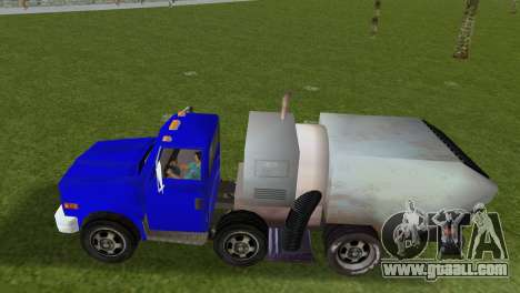 The new garbage truck Beta for GTA Vice City back left view