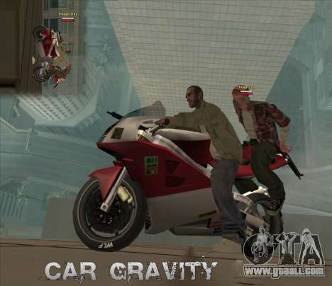 Car Grav Hack for GTA San Andreas