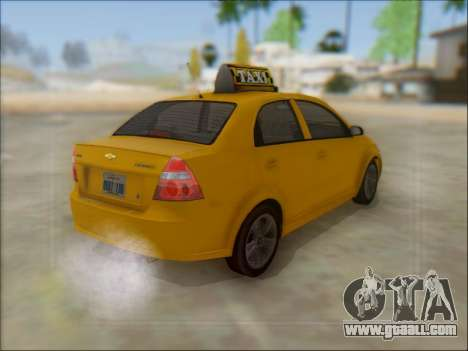 Chevrolet Aveo Taxi for GTA San Andreas side view