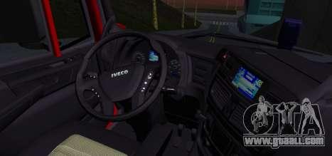 Iveco Stralis HI-ROAD for GTA San Andreas back left view