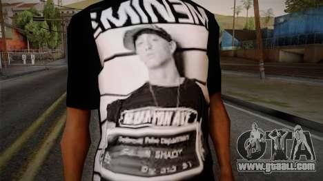 Eminem T-Shirt for GTA San Andreas third screenshot