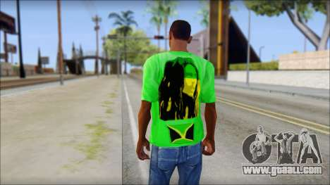 Bob Marley Jamaica T-Shirt for GTA San Andreas second screenshot