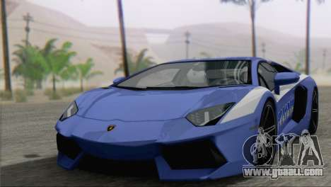 Lamborghini Aventador LP700-4 2012 for GTA San Andreas engine