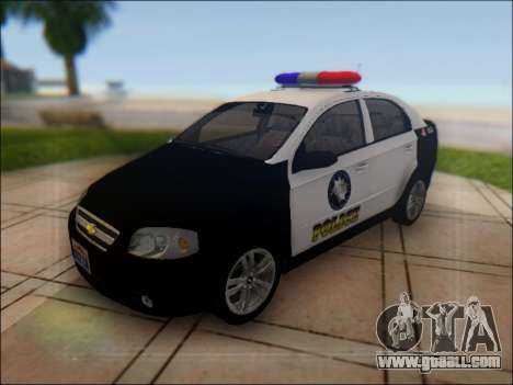 Chevrolet Aveo Police for GTA San Andreas upper view