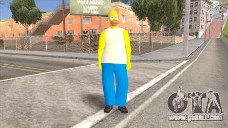 Homer Simpson Skin for GTA San Andreas