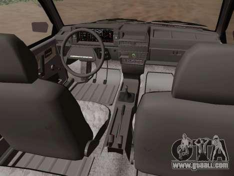 VAZ 21083 for GTA San Andreas inner view