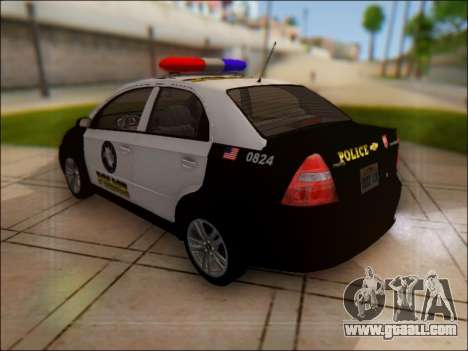 Chevrolet Aveo Police for GTA San Andreas back left view