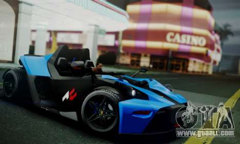 KTM X-Bow R 2011 for GTA San Andreas left view